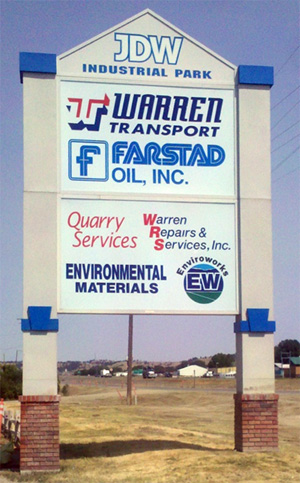 JDW Industrial Park Sign