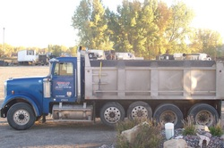 Single End dumps can haul up to 16 ton of Material